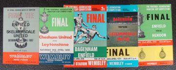 Collection of 5 different FA AMATEUR CUP FINAL football programmes